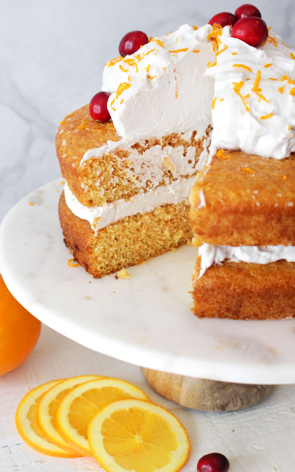 Vegan Orange Cake With Vanilla Coconut Whip Frosting Recipe Vegan Orange Cake Recipe Orange Cake Recipe Orange Cake