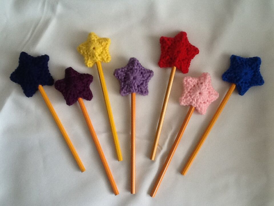 Star Pencil Toppers Howe Thoughtful Handmade Crochet