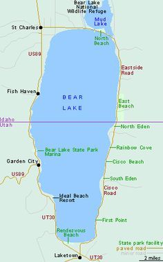 Bearlake Eastern Corner Of Idaho On The Utah Idaho Border