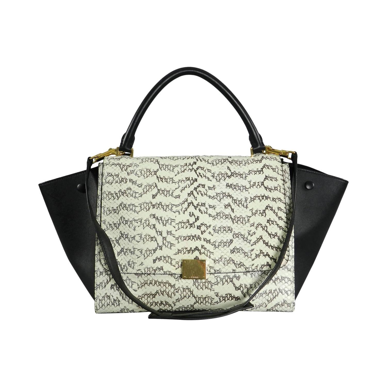 4774a4d6c7 Celine Trapeze Python Small Bag