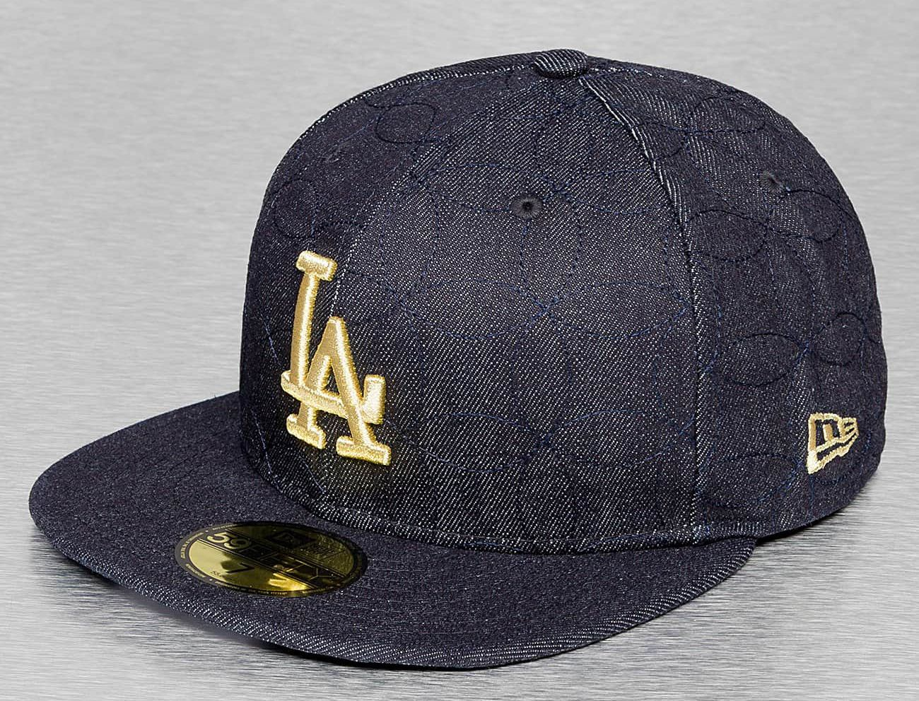 Los Angeles Dodgers Denim Quilt 59Fifty Fitted Baseball Cap by NEW ERA x MLB bff4659ad2c8