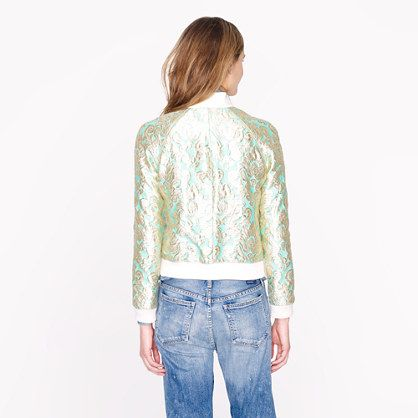 brocade bomber jacket. want.