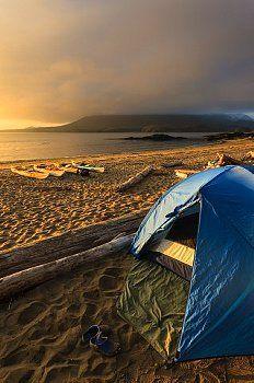 Photo of ▲ camping……A kayak camp on Vargas Island Clayoquot Sound British Columbia,…