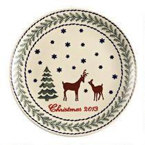 Polish Pottery Deer Pine Dinnerware Collection | Christmas Tree ...