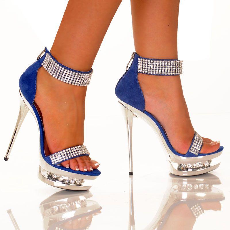 Sexy royalblaue Heels