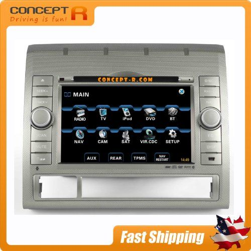 2005-2012 toyota tacoma in-dash dvd gps navigation stereo satellite sirius  ready bluetooth