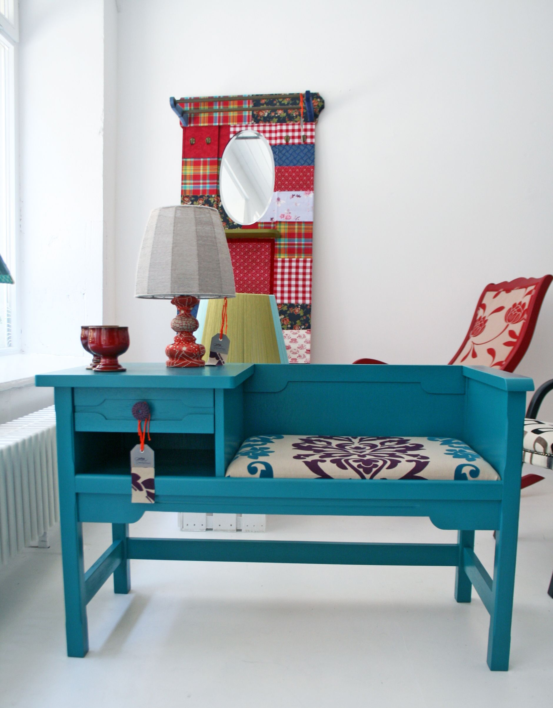 vintage phone table | Painted furniture 2 | Pinterest | Telefonbank ...