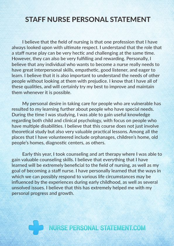 pin by nurse personal statement samples on staff nurse