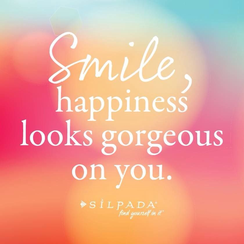 inspirational quotes positive vibes happy life smile happiness looks gorgeous on you