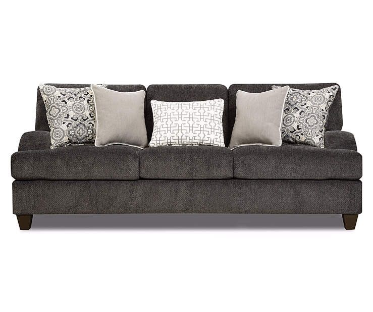 I Found A Freeport Slate Memory Foam Sofa At Big Lots For Less