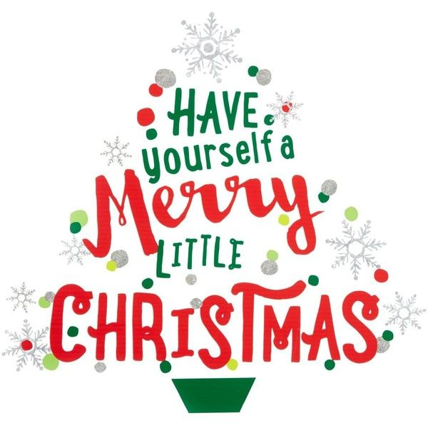Holiday Lane Have Yourself A Merry Little Christmas Wall Decal ...