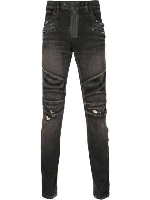 1d52e803 BALMAIN Distressed Biker Jeans. #balmain #cloth #jeans | Balmain Men ...