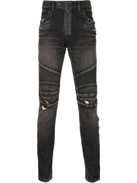 d3276bfa69a96d BALMAIN Distressed Biker Jeans. #balmain #cloth #jeans | Balmain Men ...