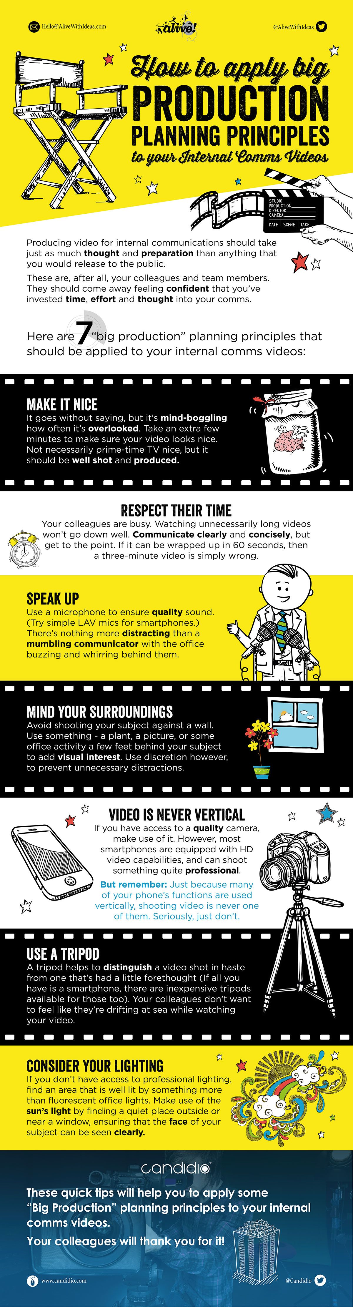 How to Apply Big Production Planning Principles to Your Internal Communication Videos