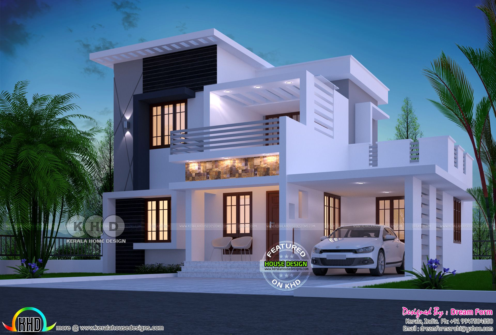 1750 Square Feet 4 Bhk Modern Home Design Kerala House Design
