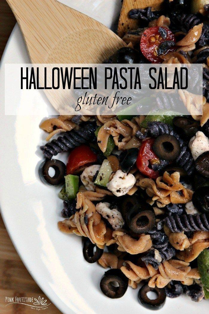 Halloween Pasta Salad #halloweenpotluckideas