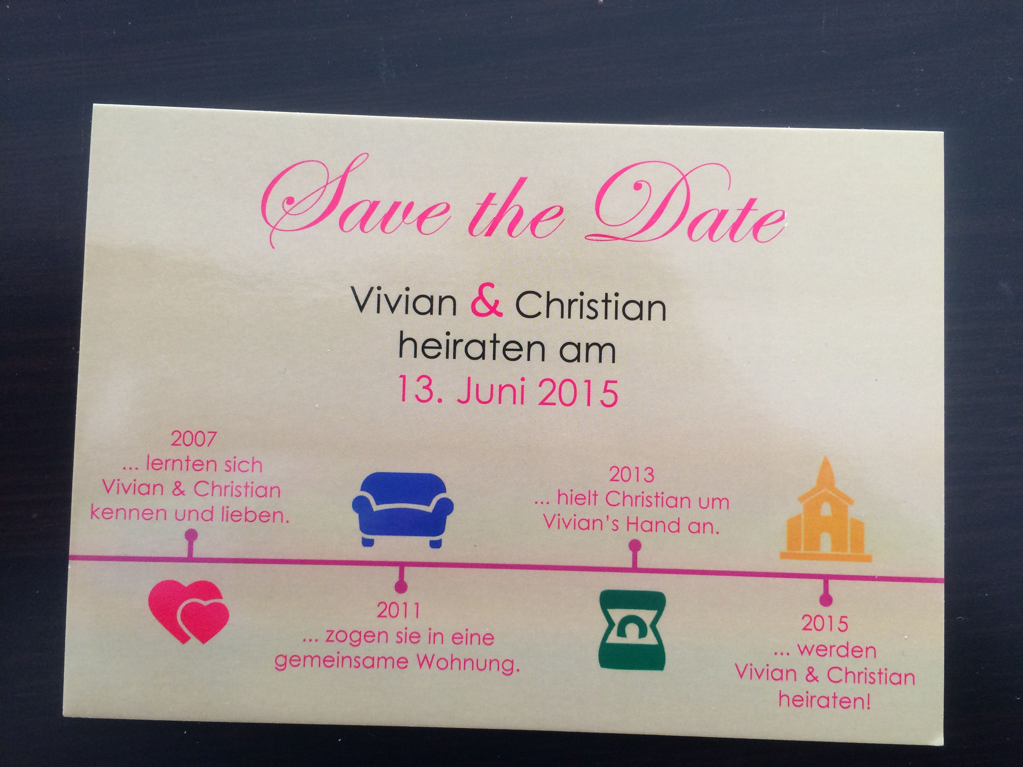 Save the Date card wedding 2015