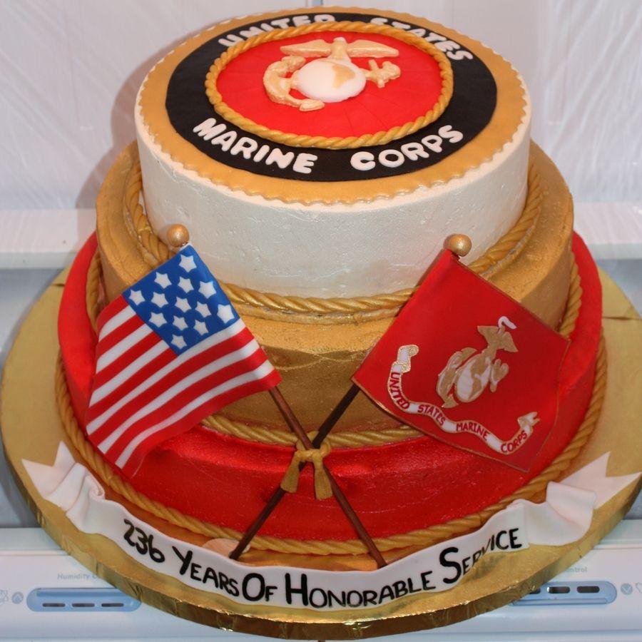 Mcia 2011 Marine Corps Ball Cake MILITARY BAKING