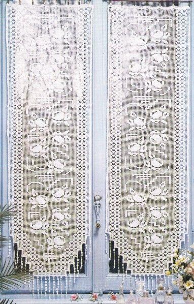 """RIDEAUX AU CROCHET """"Pommes de reinette"""" AVEC TUTO GRATUIT – Blog de crochet et tricot d'art de Suzelle Tricotcrochet % % – Tricot, crochet"""