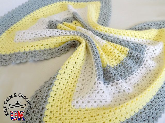 This simple crochet baby blanket is an easy to follow pattern great ...