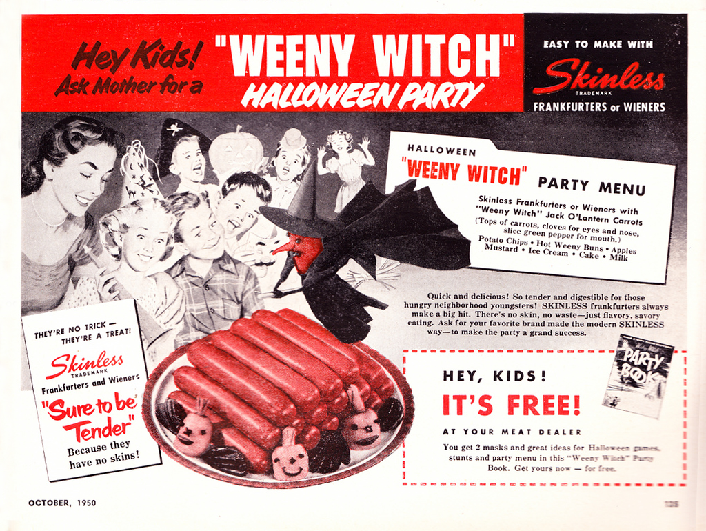 Vintage Halloween Ad - Weeny Witch