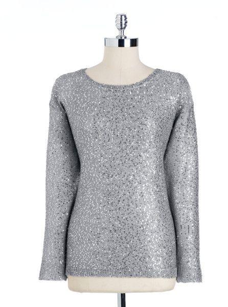 175f466ea5d Silver Sequin Top