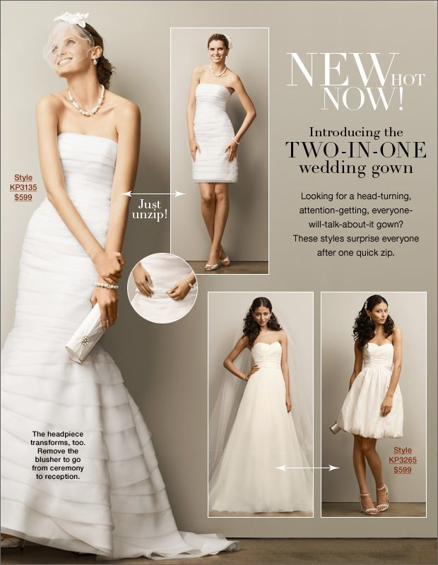 71736bdb66 $599 convertable wedding dress... K- you could kill the dress on the left.