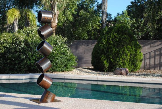 Mid Century Modern Metal Sculpture Abstract Contemporary