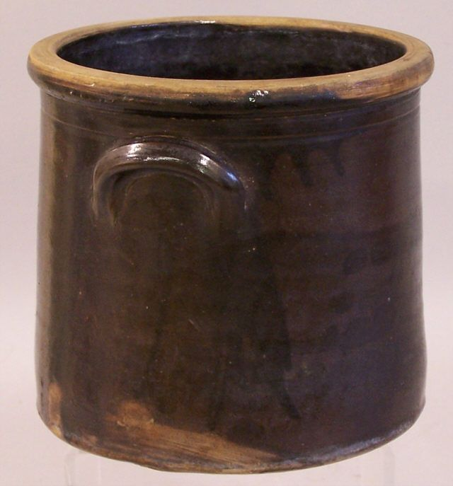 Vintage Stoneware Crocks | Early Connecticut stoneware brown drip glaze crock c1800 : Item # 5597 ...