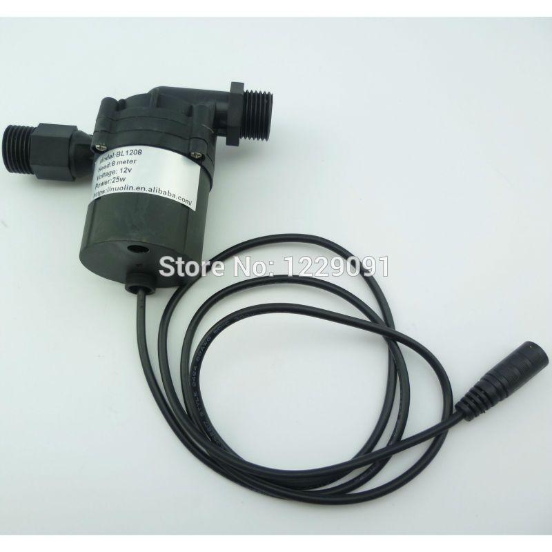 1pcs 20w Dc 12v 8m Water Heater Booster Pump Brushless Motor Water Pump Circulation Pump Submersible Water Pumps Submersible Water Heater
