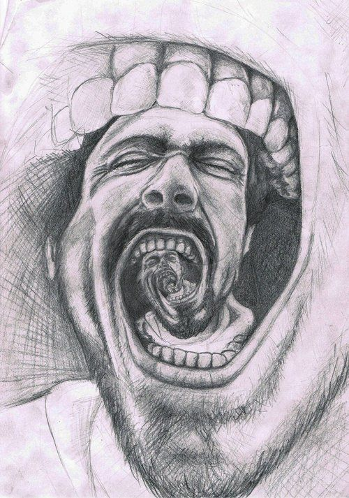 Drawing art black and white dark portrait sketch surreal abstract