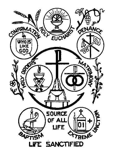 4real Forums Seven Sacraments Coloring Page Catholic Sacraments