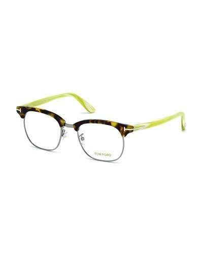Tom Ford Acetate Metal Eyeglasses White Horn