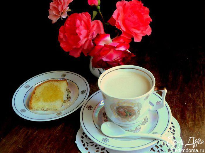 чашка кофе с сыром