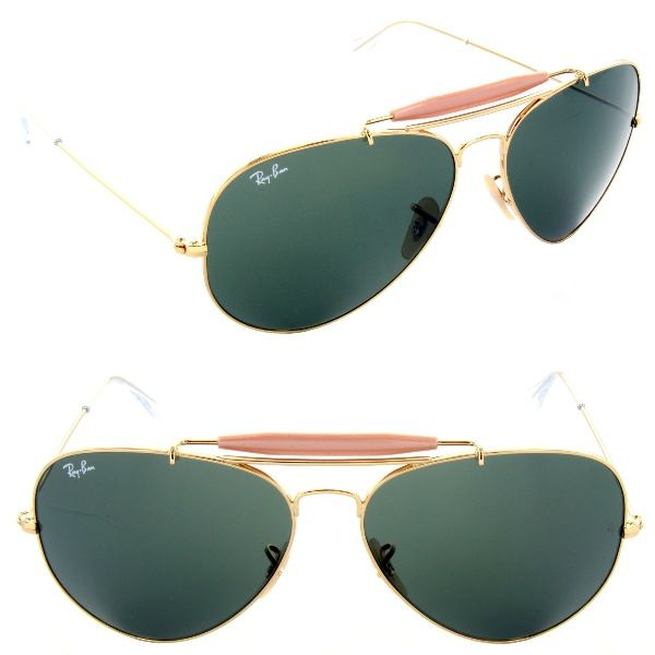 06beb721621 Ray-Ban RB 3029 L2112 Outdoorsman II Gold   Crystal Green