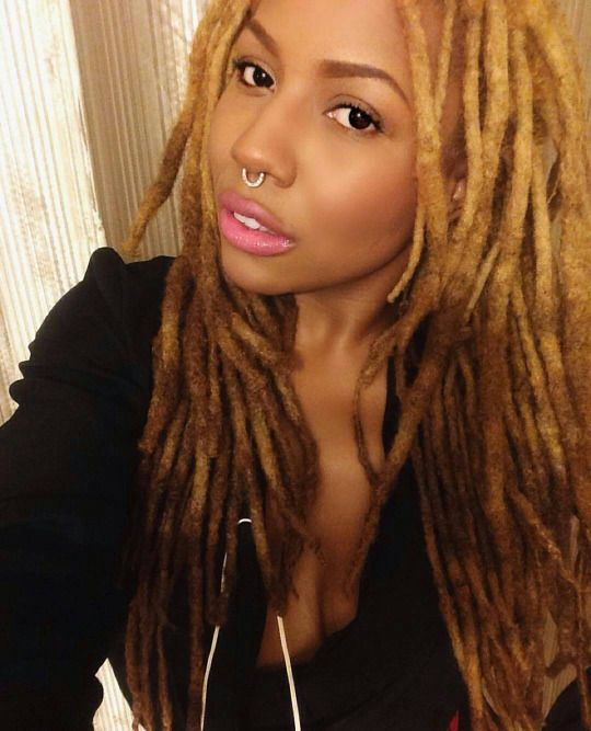 blonde locs & ombr tips #locs