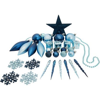 Pack of 75 Assorted Blue Decorations at Homebase -- Be inspired and make your house a home. Buy now.