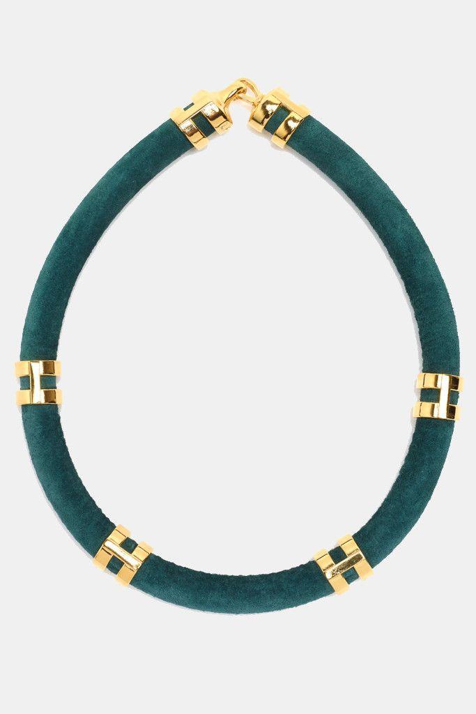 Double-Take Necklace in Green   #kickpleat #lizziefortunato