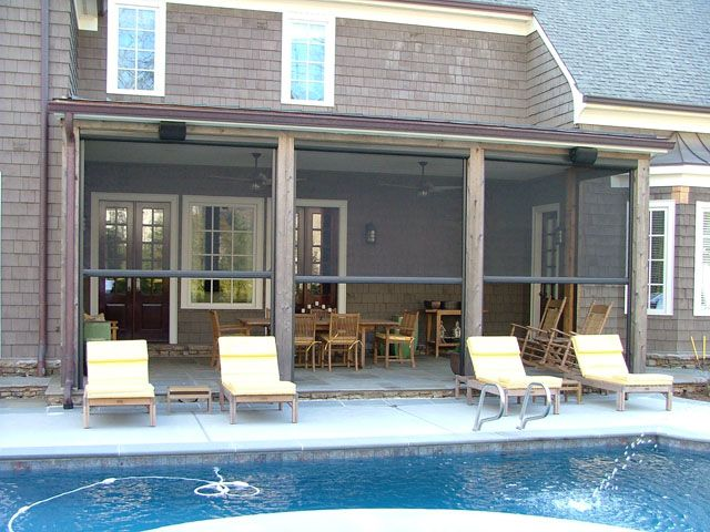 Wonderful Screen Rolls For Porches | Armstrong Aluminum   Roll Up Screen Gallery    Imagine The .