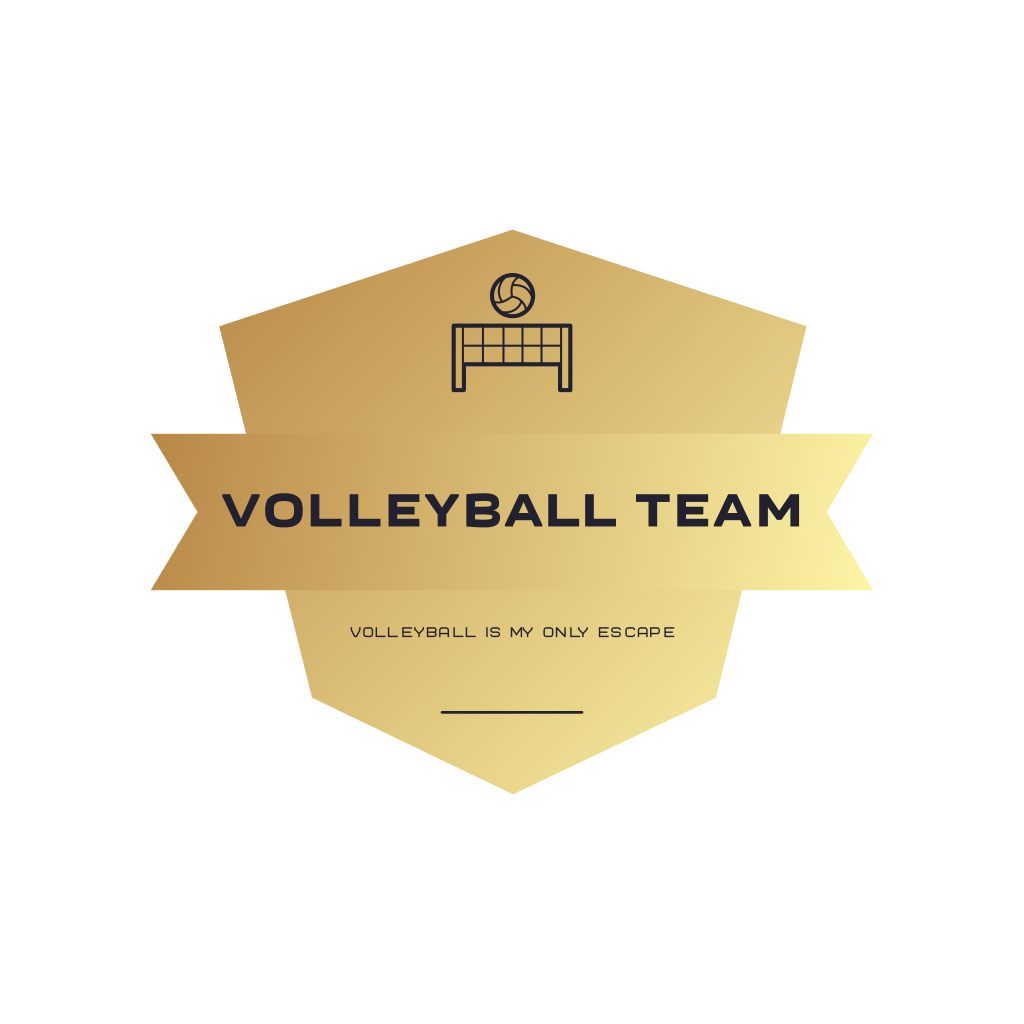Volleyball Is My Only Escape Volleyball Team Logo In 2020 Team Logo Design Sports Logo Design Volleyball Team