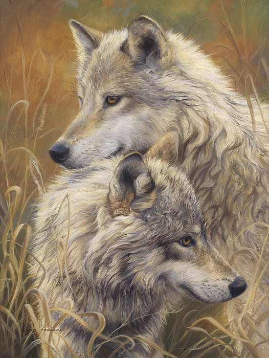 Together Art Print by Lucie Bilodeau