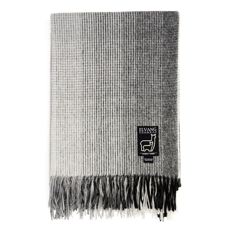 Horizon Plaid, 130x200 cm, Grey Plaid throw, Grey throw