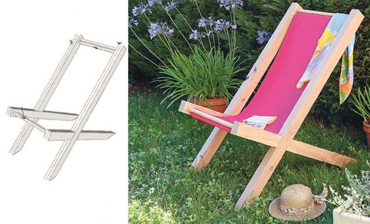Tutoriel : réaliser une chaise longue en bois | Chaise
