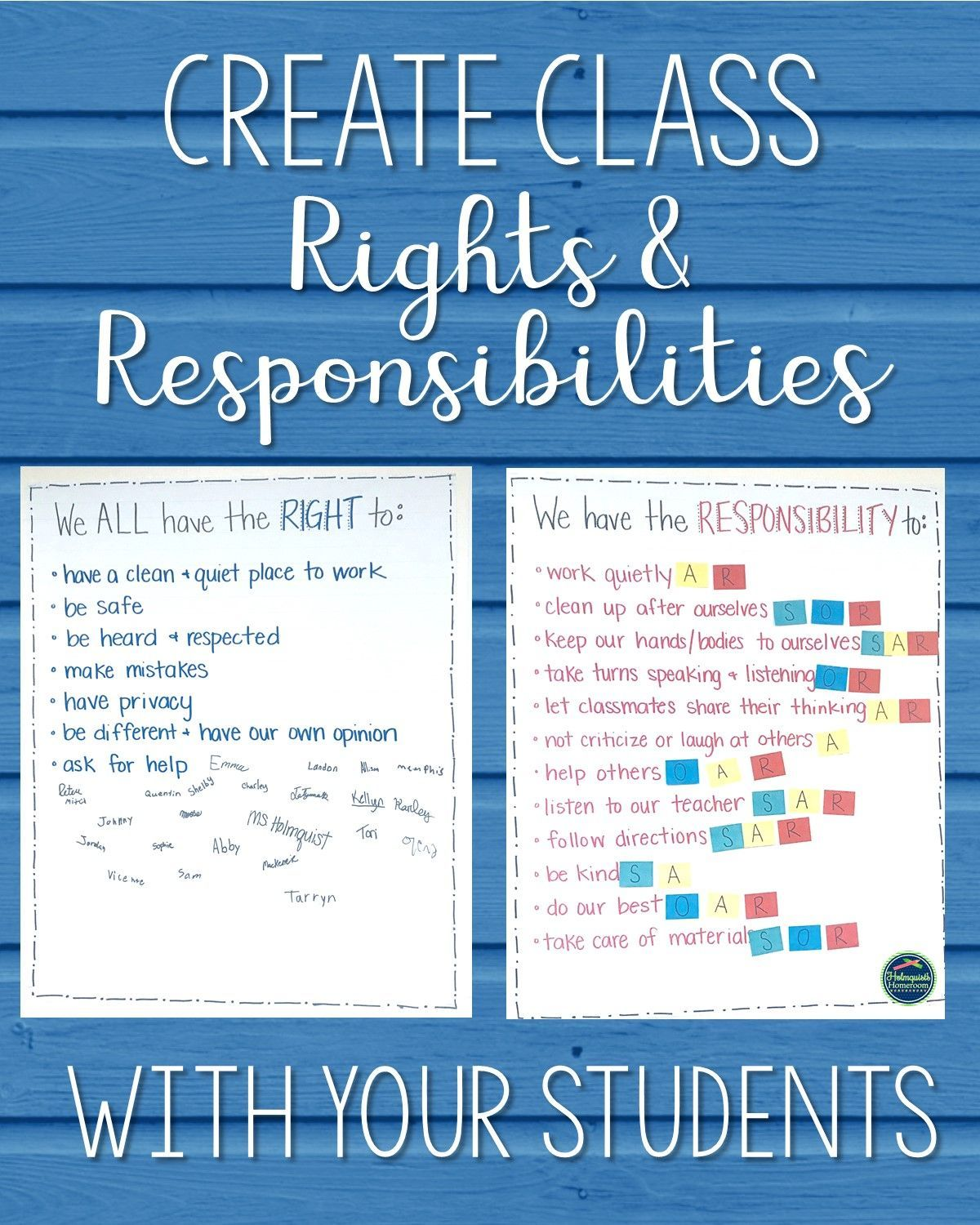 Creating Rights and responsibilities with your students at the beginning of  the year is an amazin…   Classroom norms [ 1500 x 1200 Pixel ]