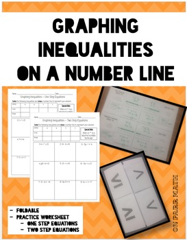 graphing inequalities on a number line foldable and worksheet - Graphing Inequalities On A Number Line Worksheet
