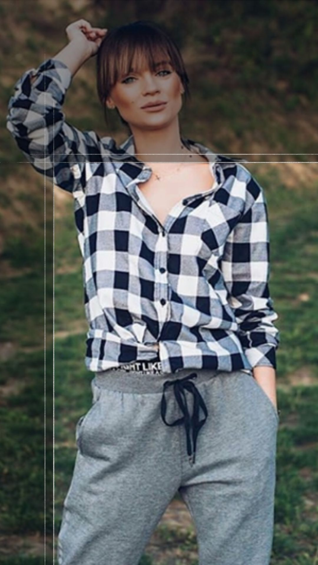 Koszula W Krate Flanela S Biala Polski Producent 8480296094 Oficjalne Archiwum Allegro Women S Plaid Shirt Plaid Shirt Casual Button Down Shirt