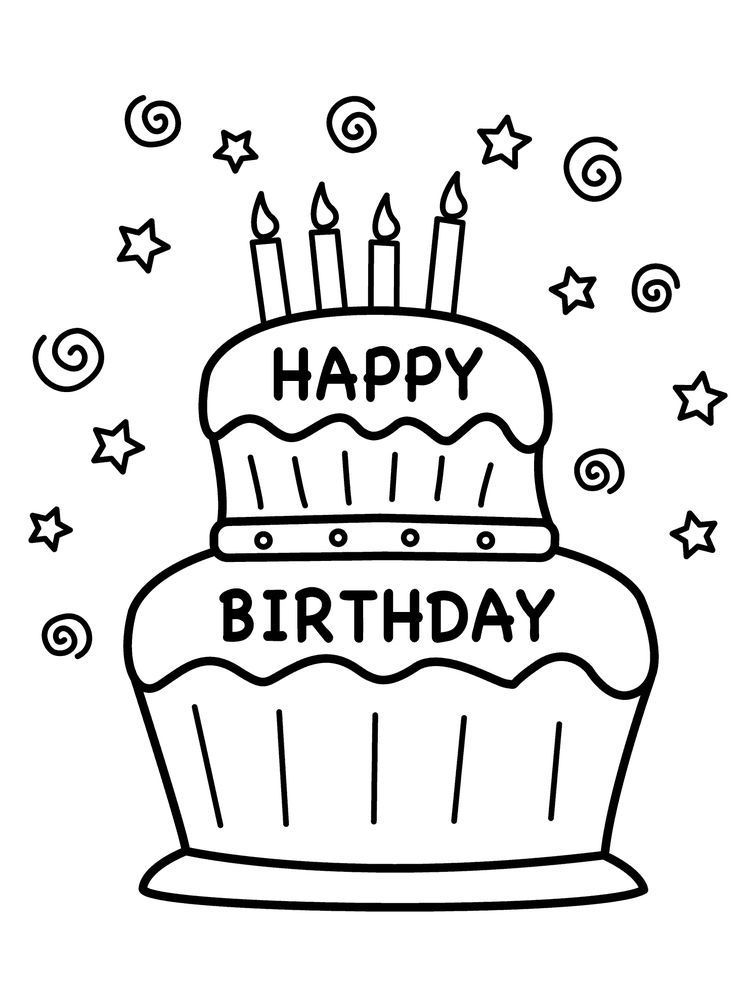 Birthday Cake Colouring Pages Birthday Cake Is A Cake Given To Someone On His B Happy Birthday Coloring Pages Happy Birthday Printable Birthday Coloring Pages