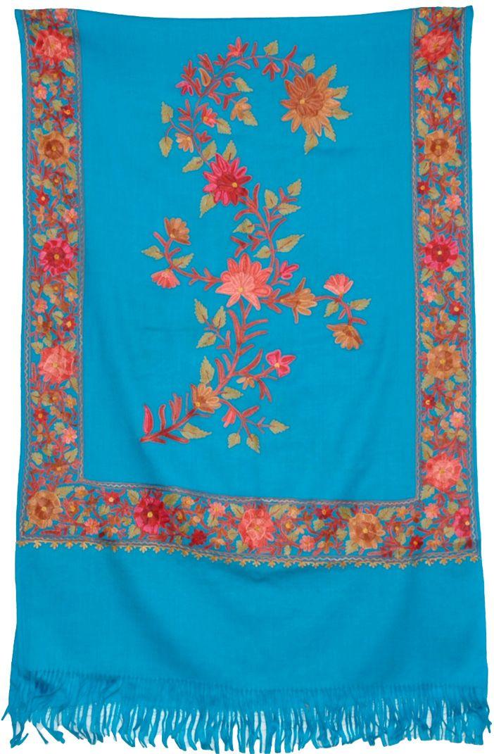 Bondi Blue Embroidered Stoll | Style - Informal Wardrobe ...