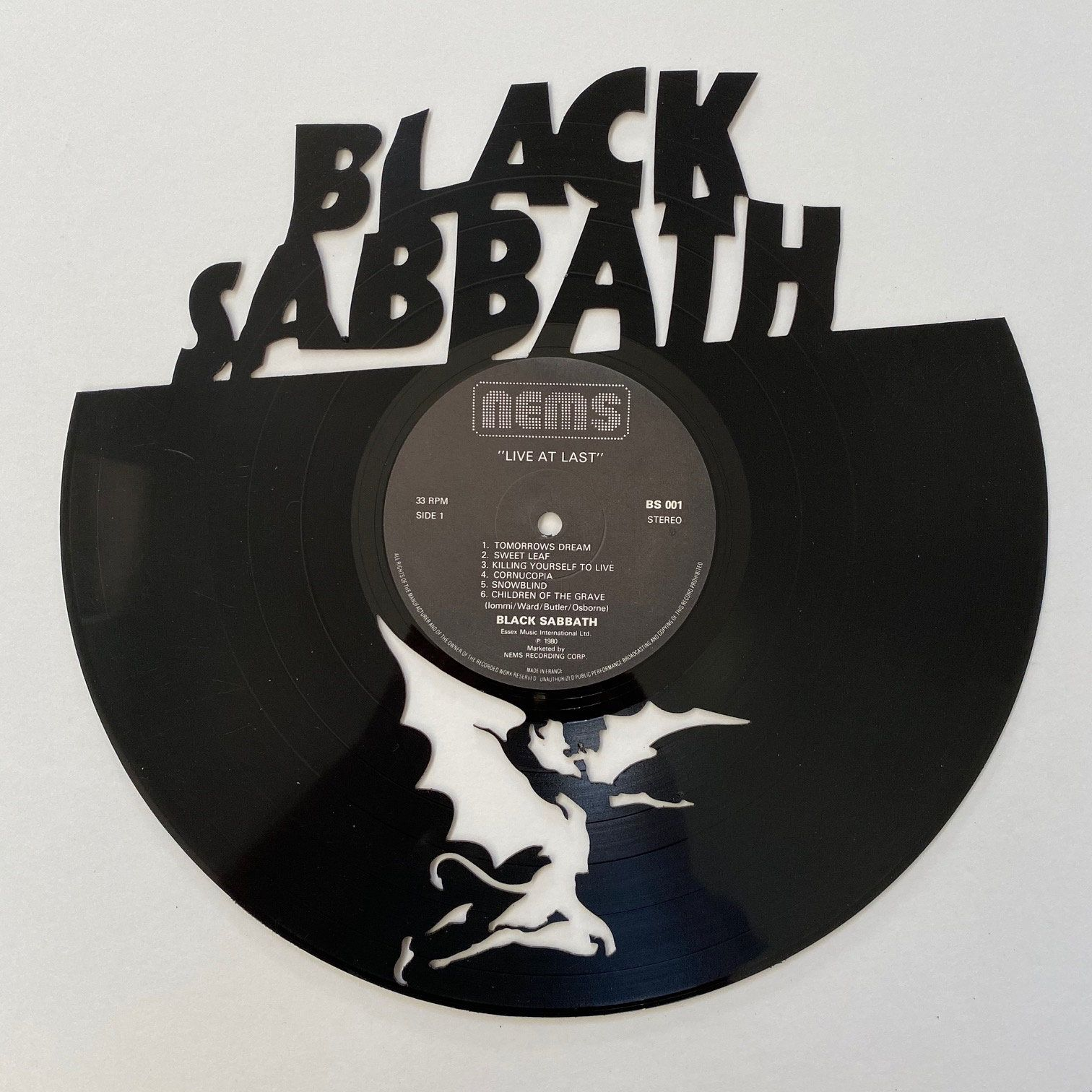 Excited To Share The Latest Addition To My Etsy Shop Black Sabbath Vinyl Record Art Https Etsy Me 37eut In 2020 Vinyl Record Art Black Sabbath Albums Black Sabbath