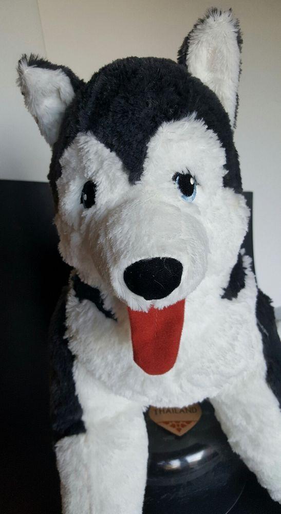 Ikea Plush Jumbo Stuffed Siberian Husky X Large Puppy Dog Livlig